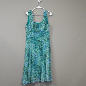 NorthStyle floral chiffon sleeveless flare dress